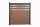 DeToWood WPC Sichtschutzzaun Premium Braun mit Zierleisten